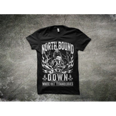 North Bound & Down - White Out Technologies T-Shirt